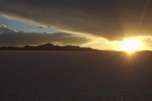 Salar de Uyuni - sunset