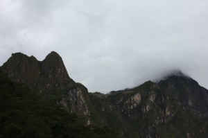 first view towards Machu Picchu