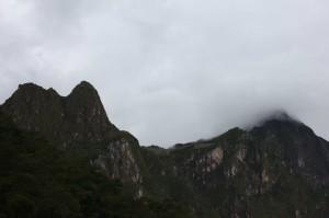 first view towards Machu Picchu