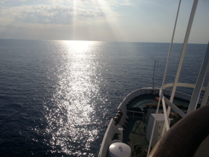 crossing the Adriatic Sea from Albania to Italy