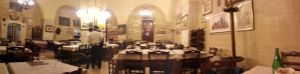 There we had dinner in Bari. very Addams-family like...