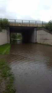 I had to go through this little flooding